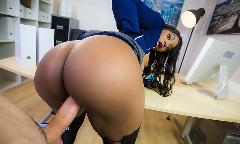 ebony big tits at work porno